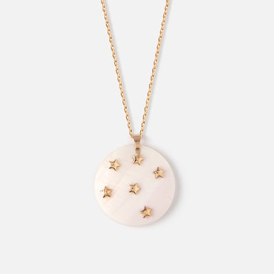 Star Embellished Shell Long Necklace