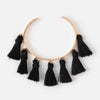 Multi Tassel Bangle - Black