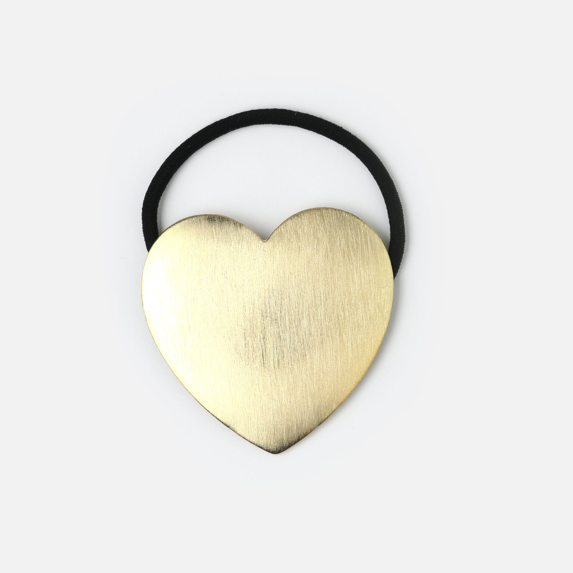 Brushed Metal Heart Hair Band