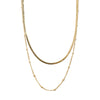 Satellite & Flat Curb Layered Chain - Gold
