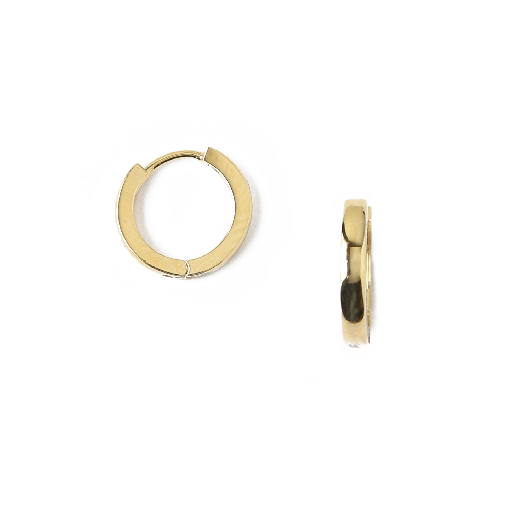 Clean Metal Huggie Hoops - Gold