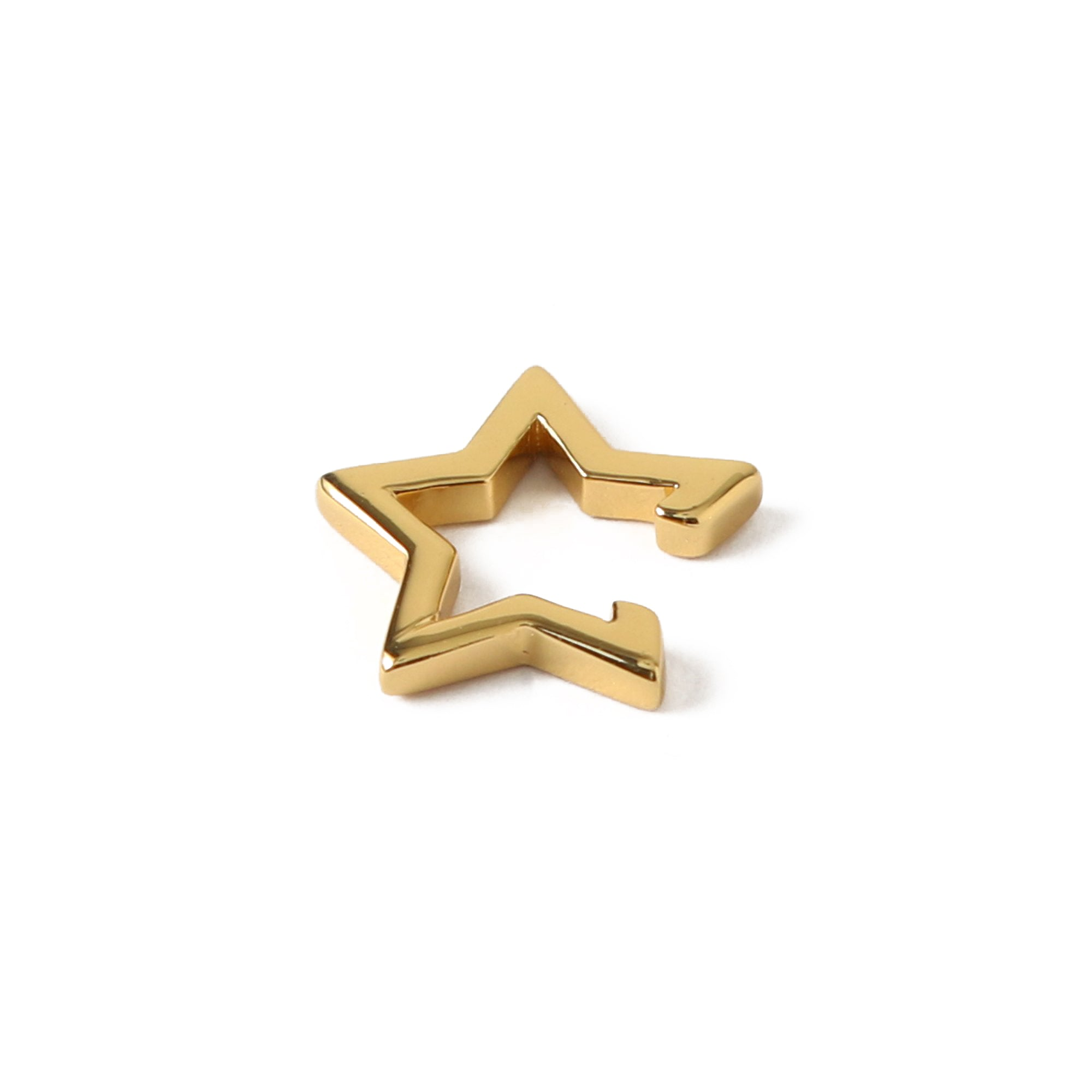 Cutout Star Ear Cuff - Gold