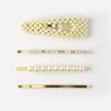 Gold And Pearl Multipack Hair Slides