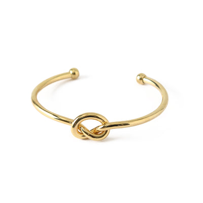 Chunky Knot Bangle - Gold