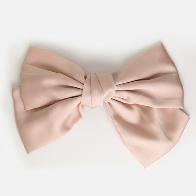 Large Nude Hair Bow