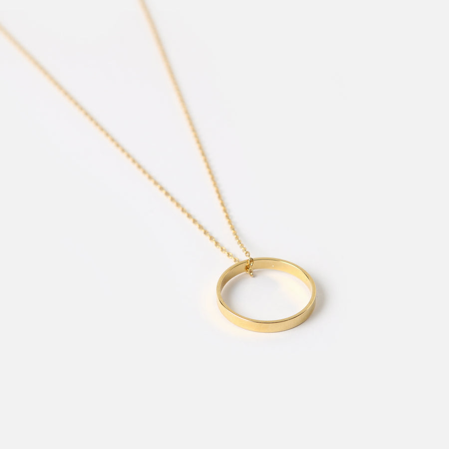 Gold Open Ring Necklace