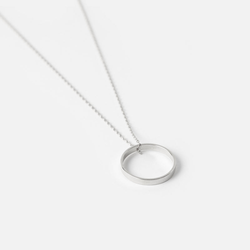 Silver Open Ring Necklace