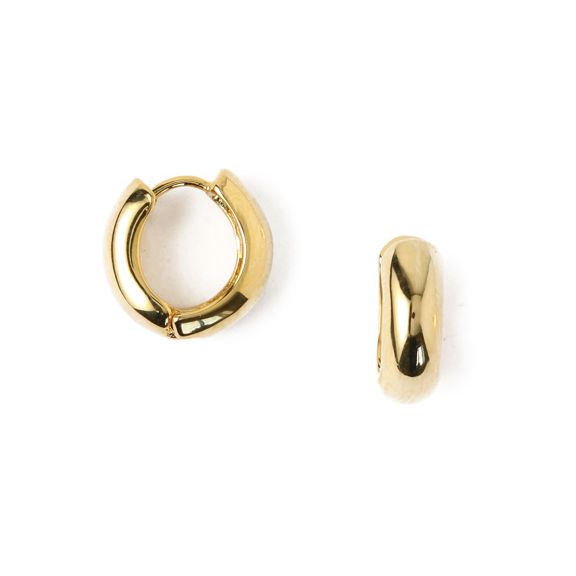 Chunky Mini Hoop Earrings- Gold