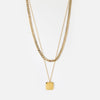 Square Disc Two Row Necklace