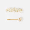 Crystal Daisy Hair Slide Duo