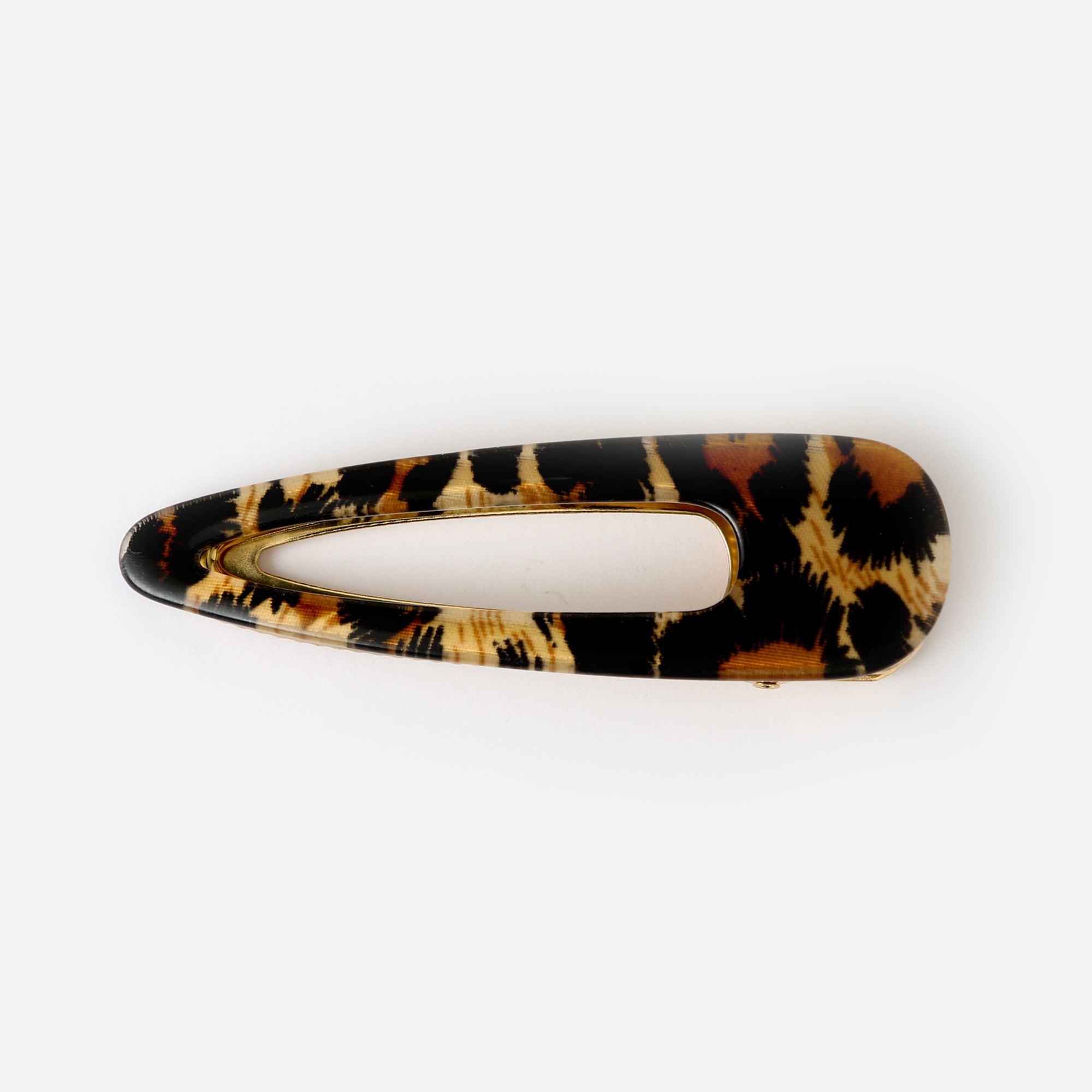 Leopard Resin Hair Slide
