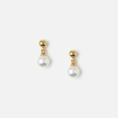 Mini Pearl Drop Stud Earrings