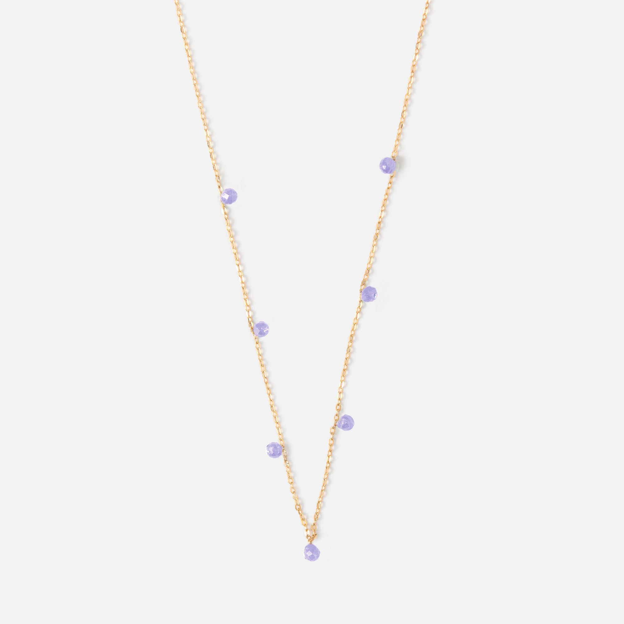 Fine Amethyst Drop Necklace