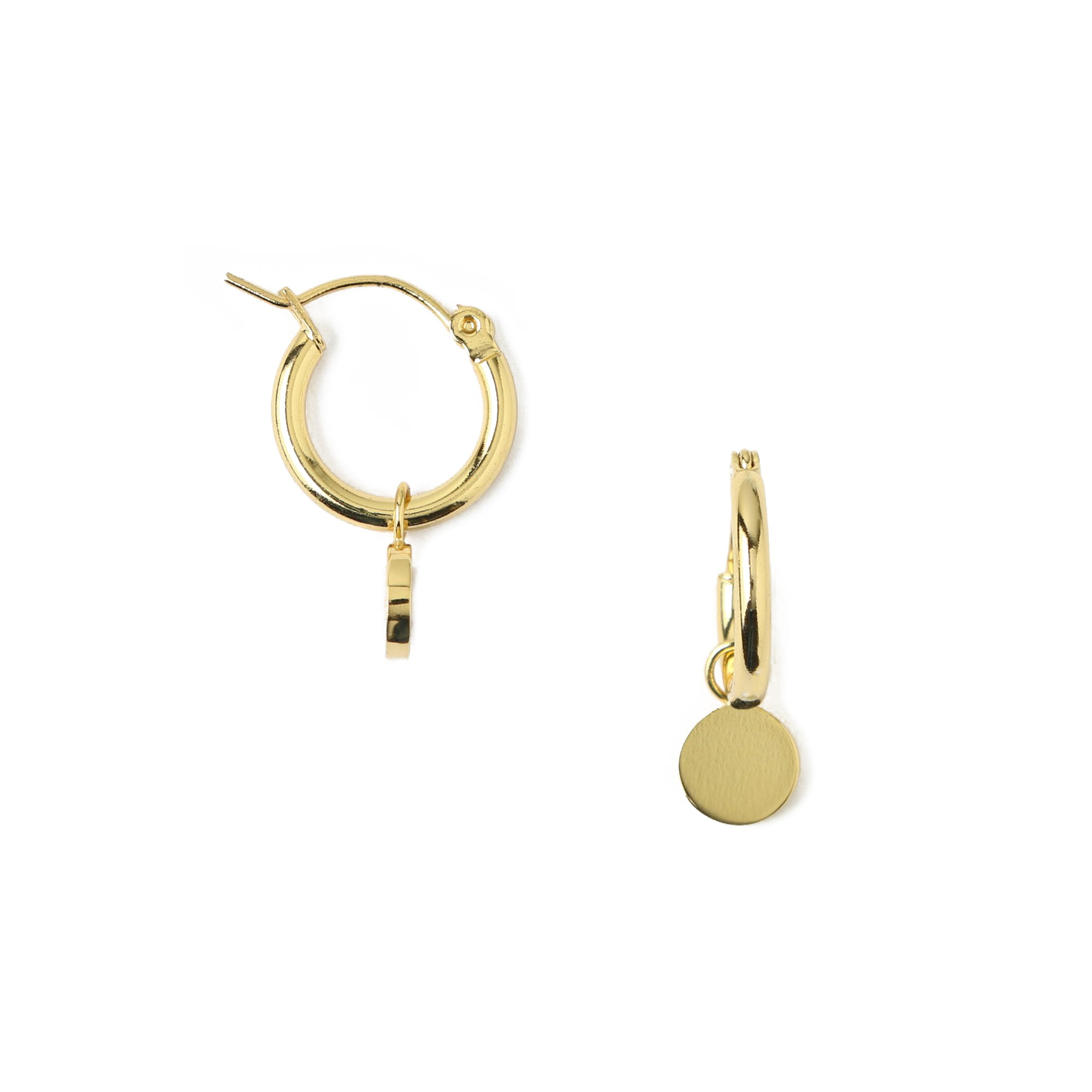 Mini Coin & Hoop Earrings