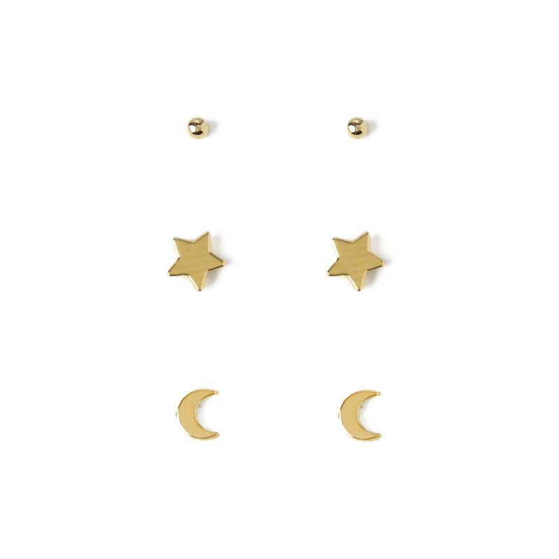 Star & Moon Earring 3 Pack