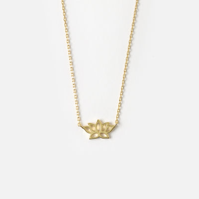 Lotus Charm Necklace - New Beginnings