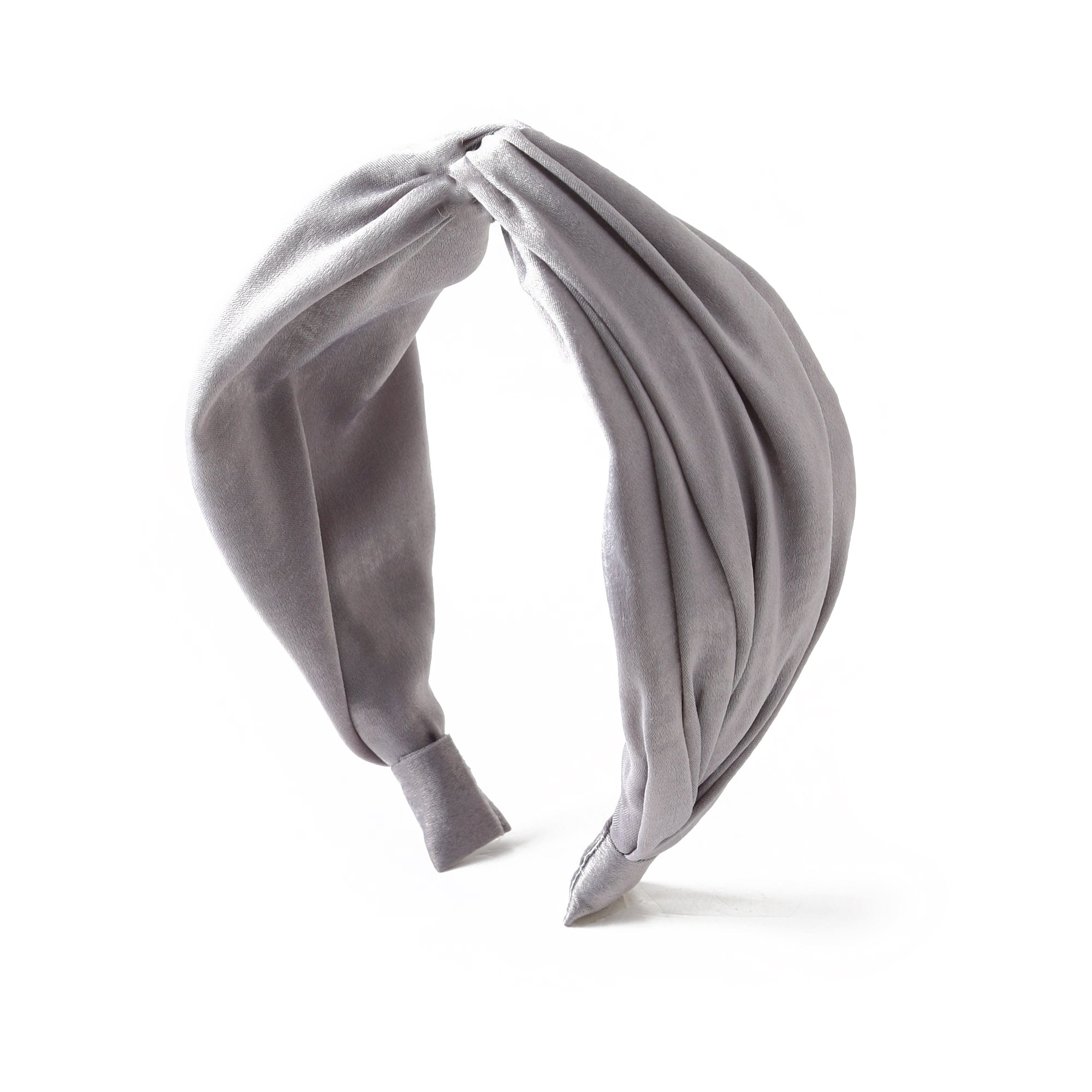 Silky Turban Headband-Grey