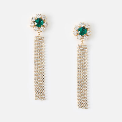 Statement Crystal Flower Earrings