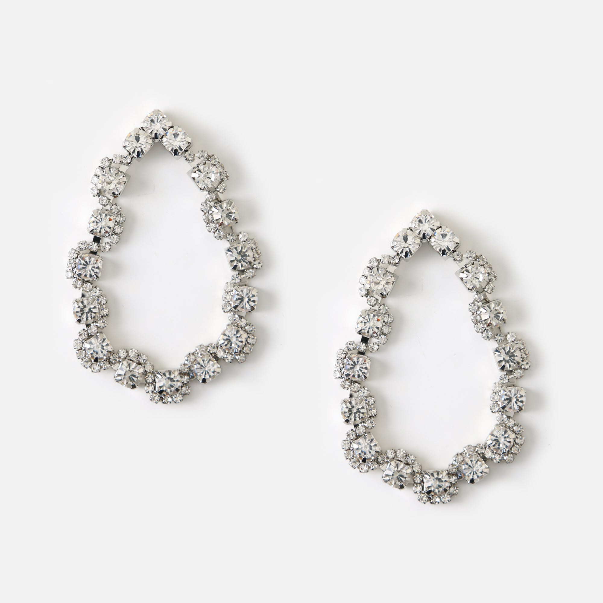 Statement Crystal Teardrop Earrings