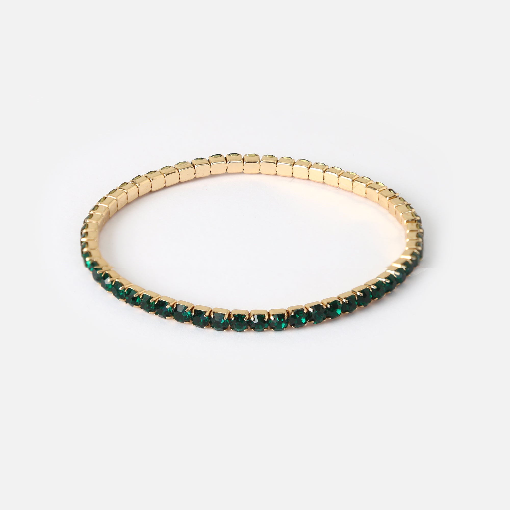Crystal Stretch Bracelet - Emerald