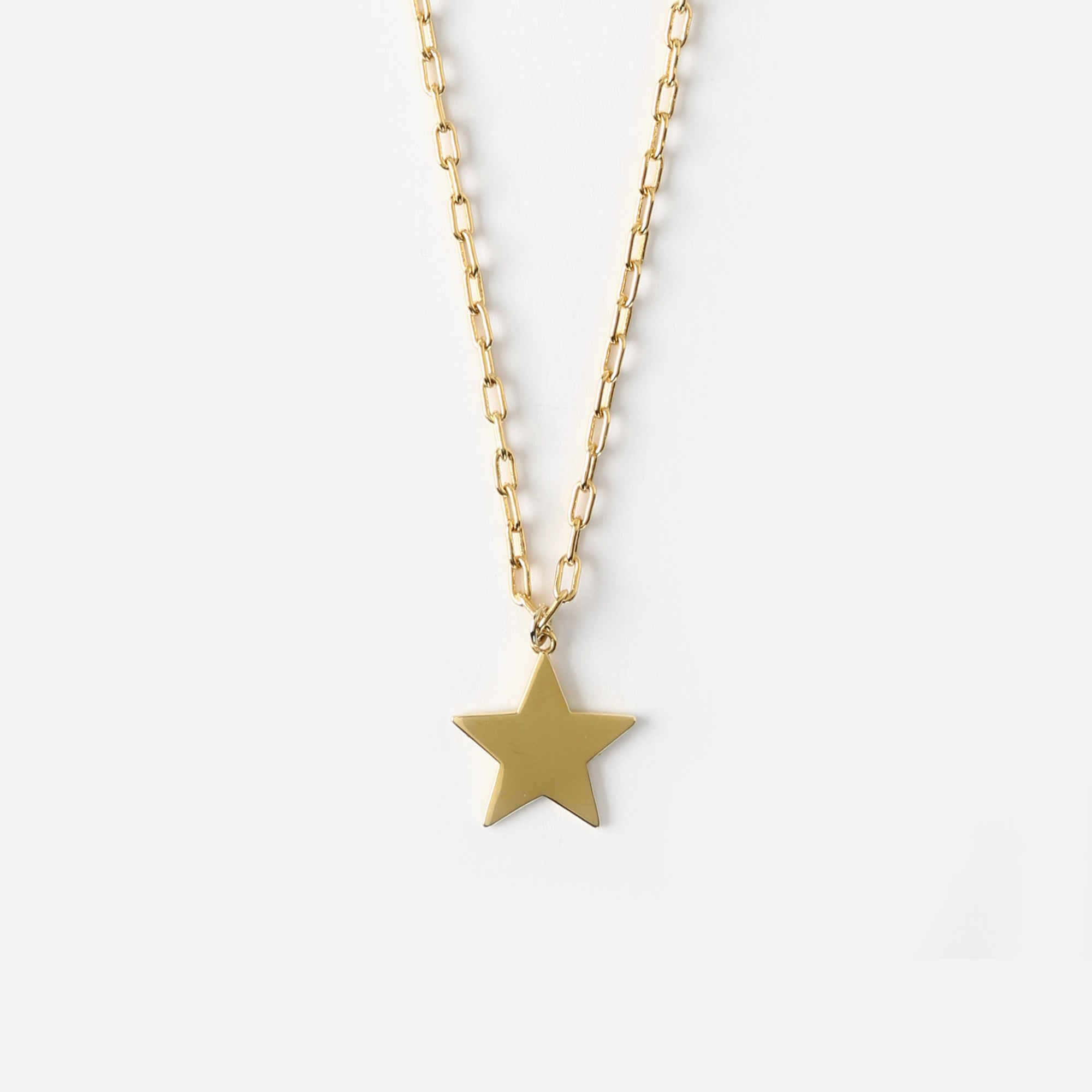 Star Charm Collar Length Necklace