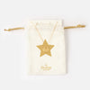 Star Cutout Coin Necklace Gift Pouch