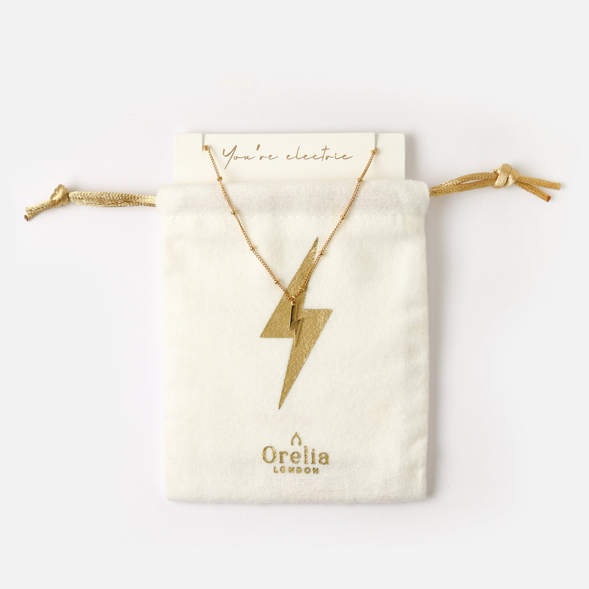 Electric Lightning Necklace Gift Pouch