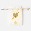 Heart Pedant Necklace Gift Pouch