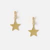 Clean Star Charm Huggie Hoop Earrings