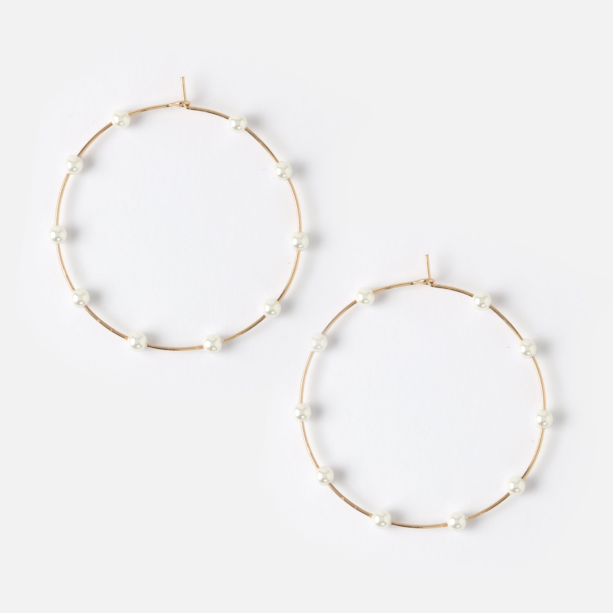 Large Multi Pearl Hoops