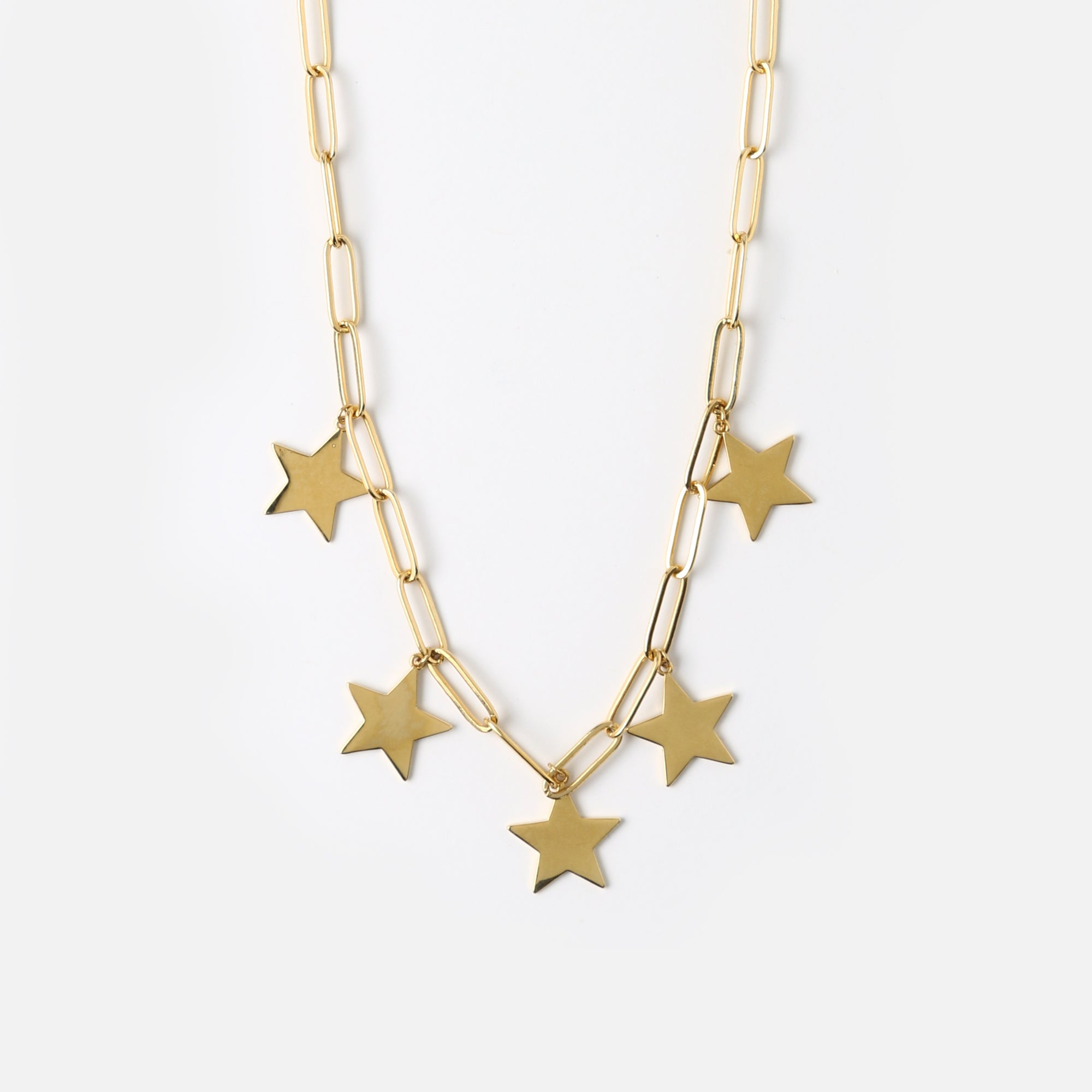 Clean Star Long Link Necklace