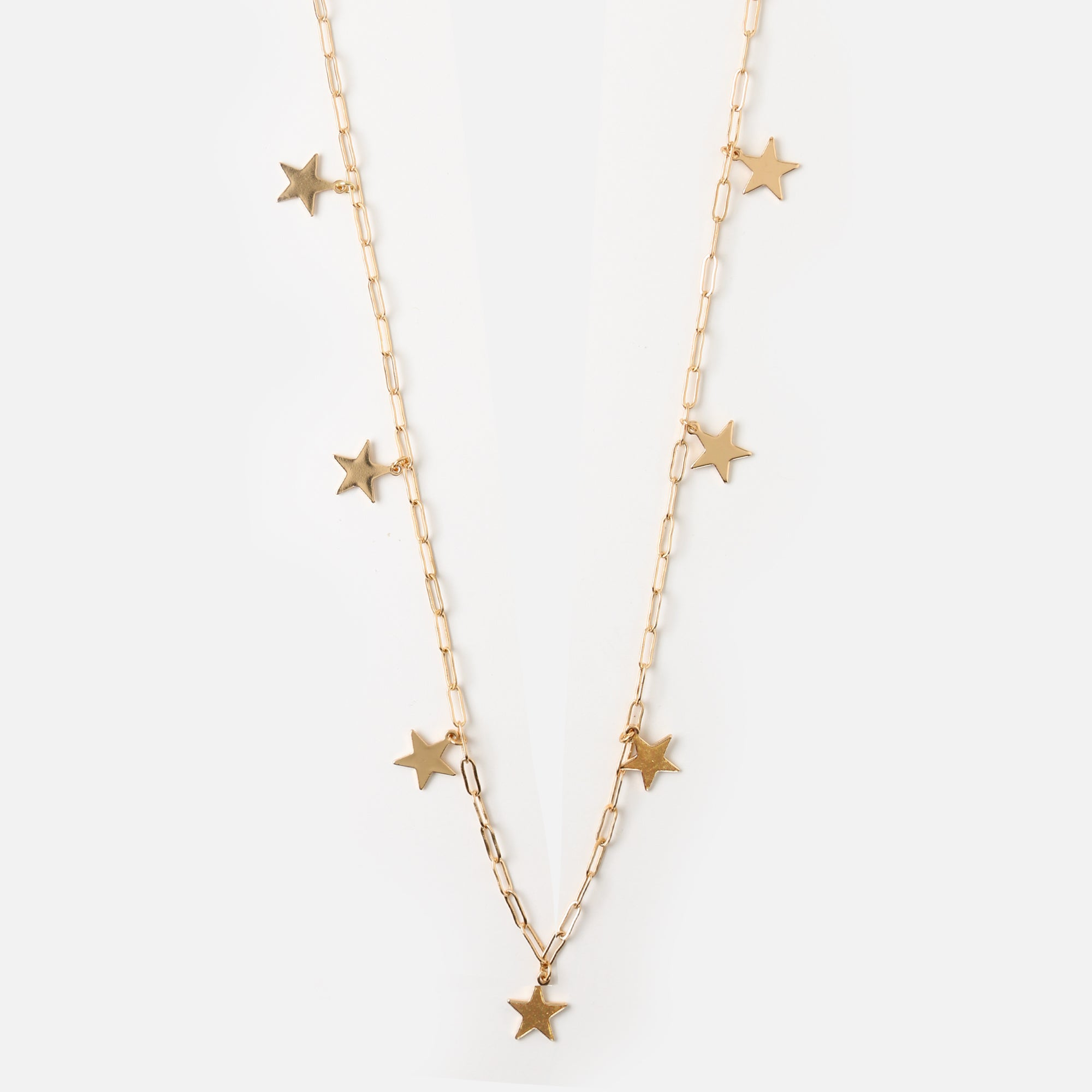Large Link Falling Star Necklace