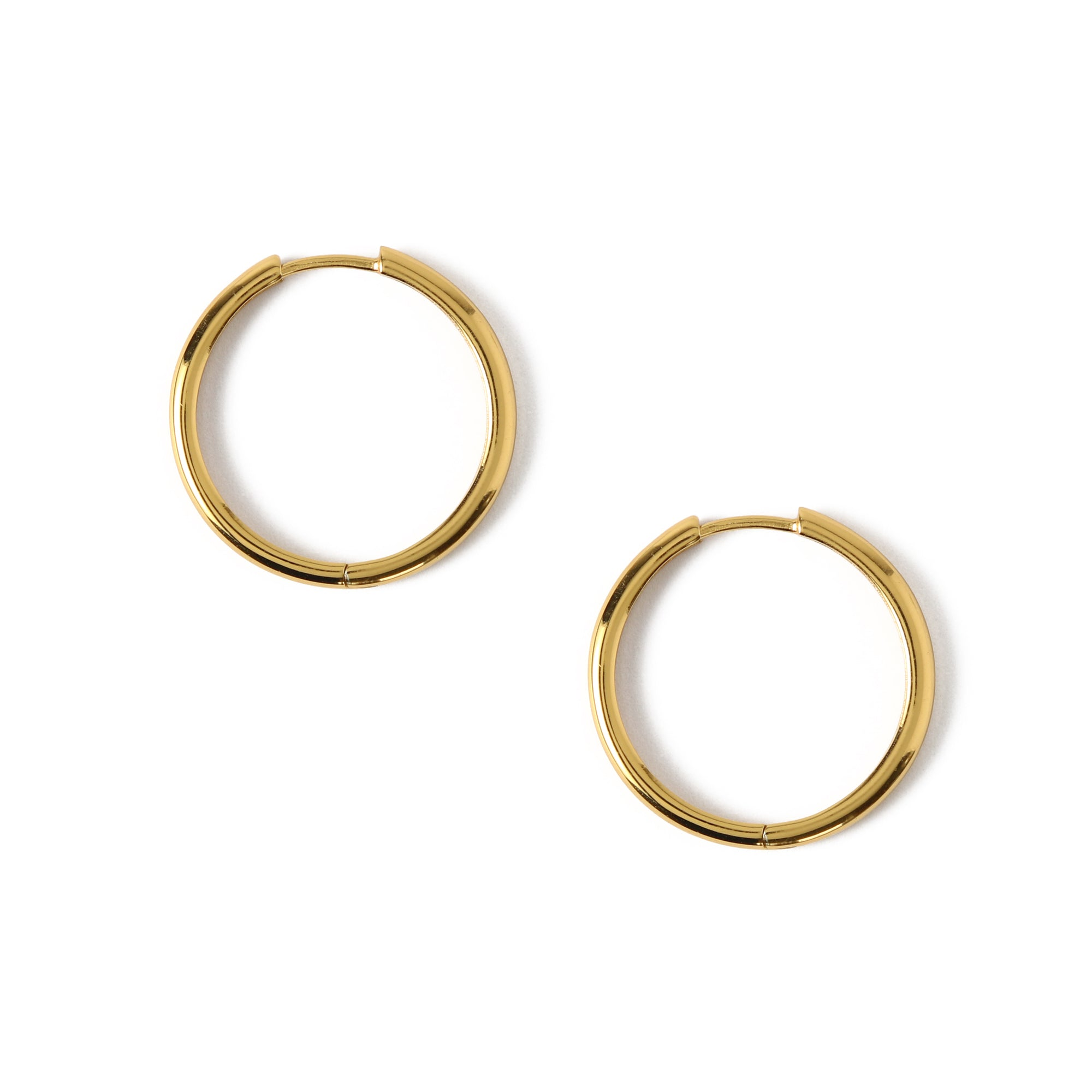 LUXE Simple Medium Hoop Earrings