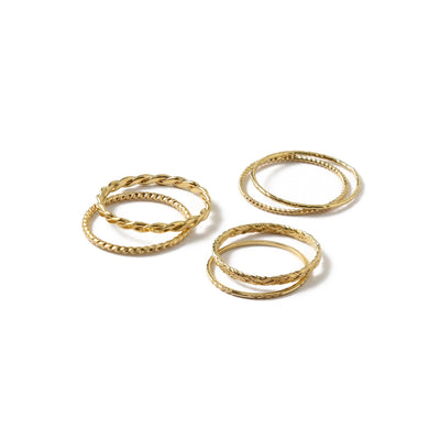 Gold Multi Stack Ring