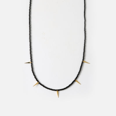 Beaded Spear Collar Necklace
