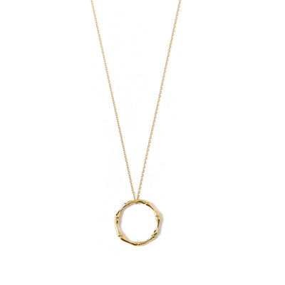Bamboo Ring Short Necklace-Gold
