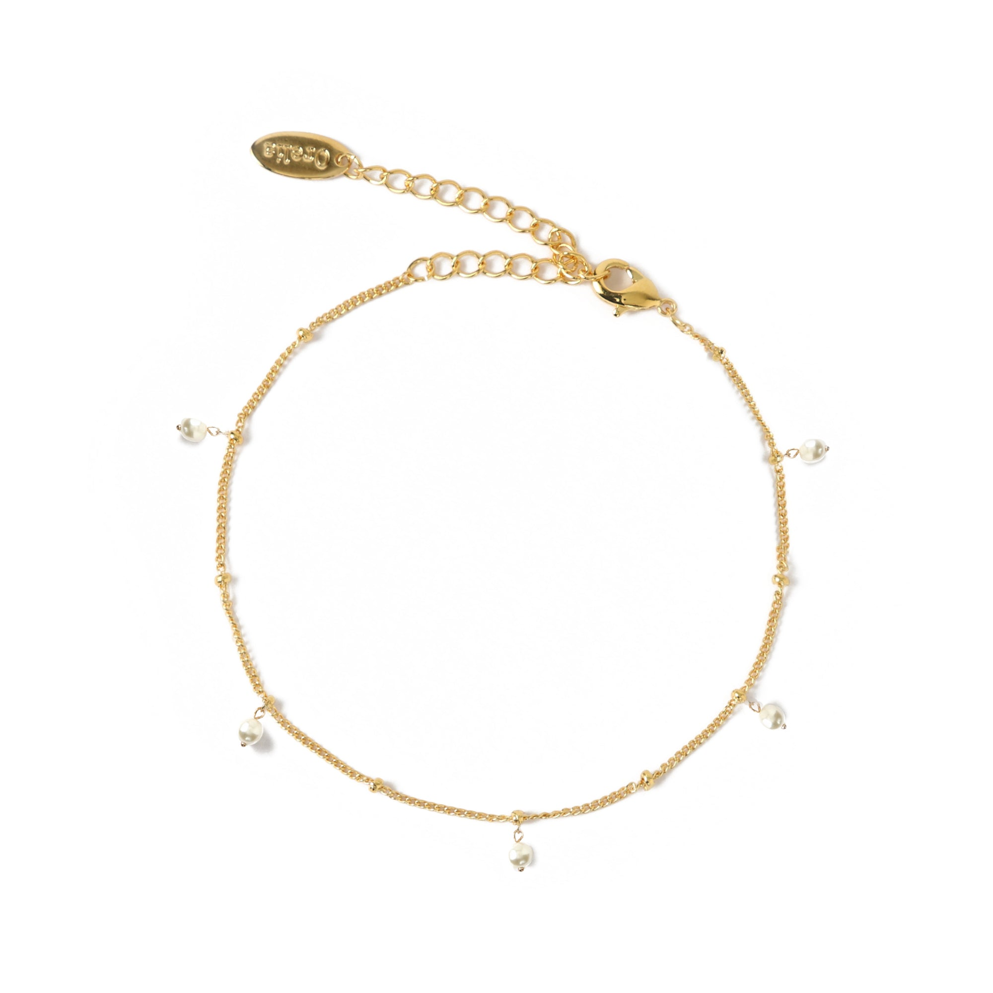 Pearl Satellite Chain Anklet
