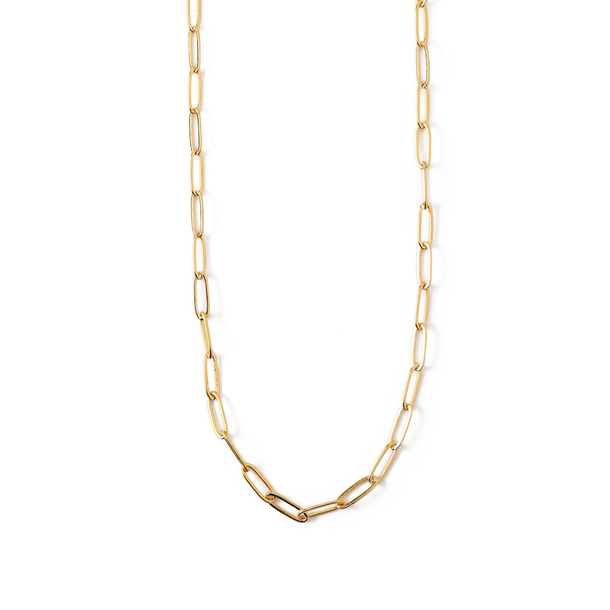 Large Link Chain Necklace - Gold