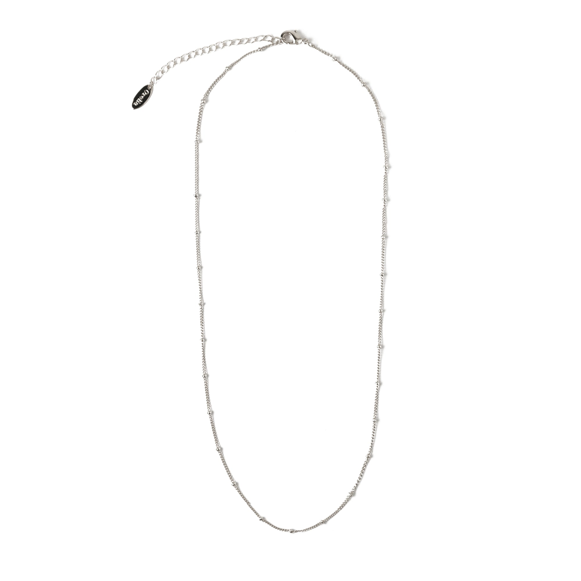 Satellite Chain Silver Necklace - Short