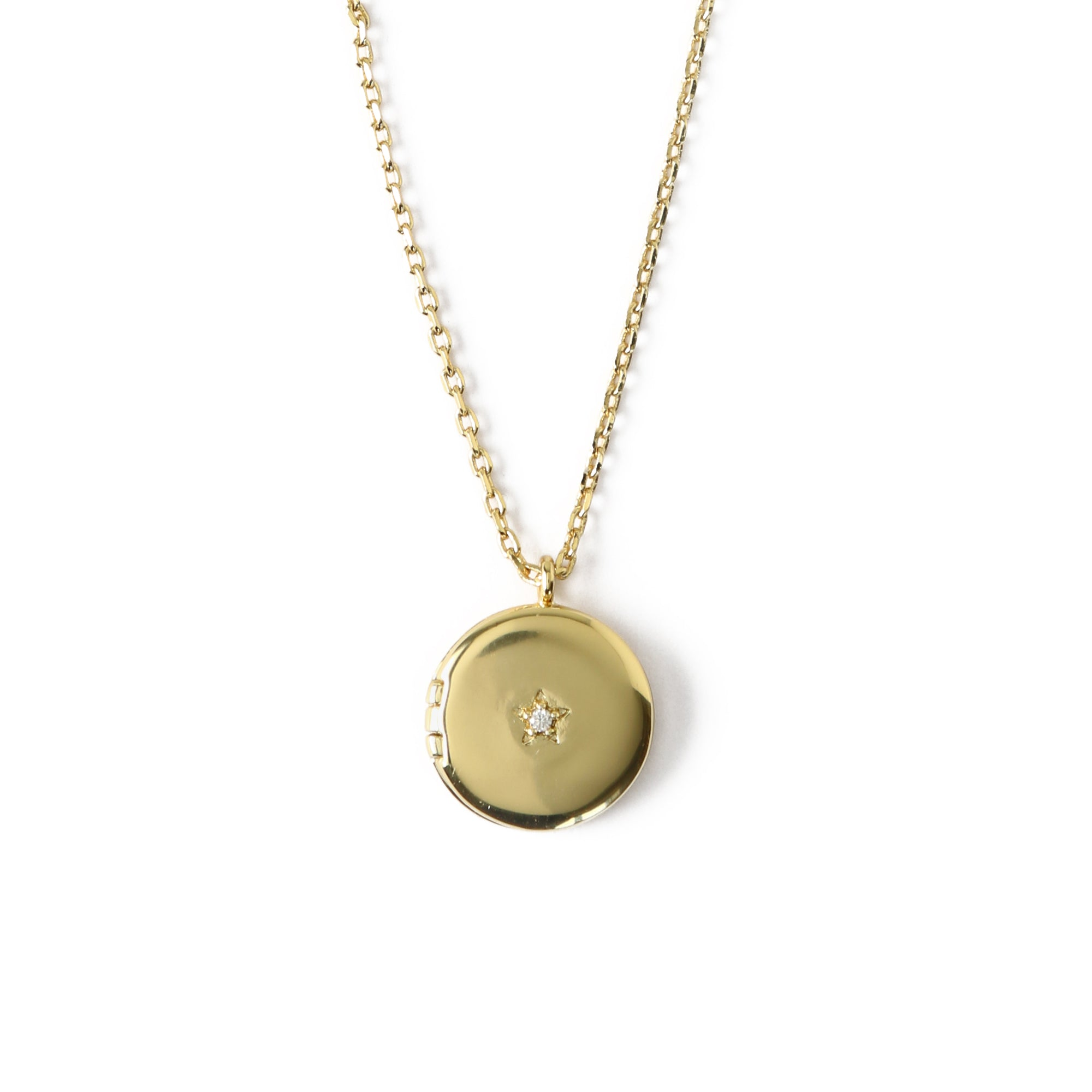 LUXE Mini Round Locket Necklace