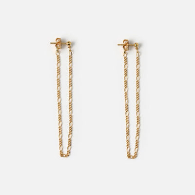Chain Drop Front & Back Earrings