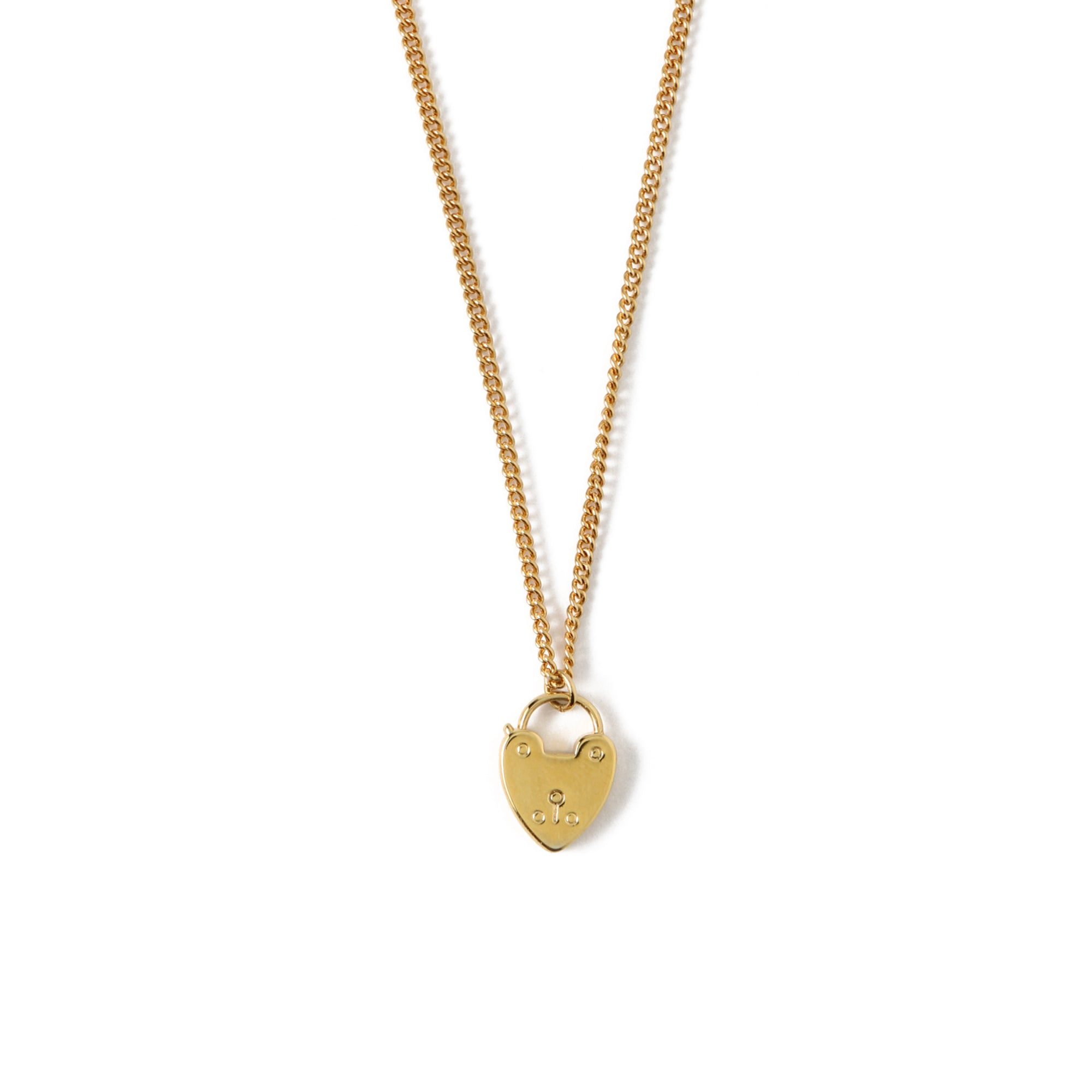 Heart Padlock Ditsy Necklace