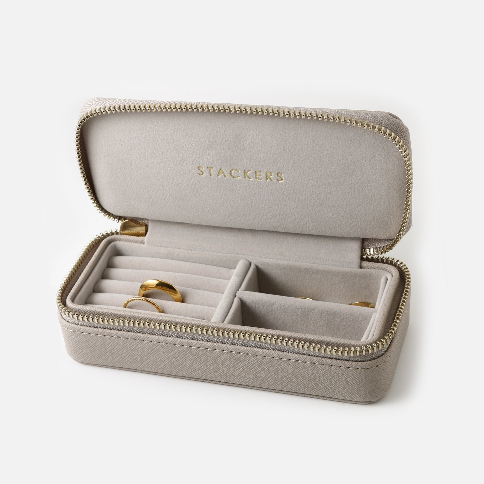 Stackers Medium Travel Jewellery Box - Taupe