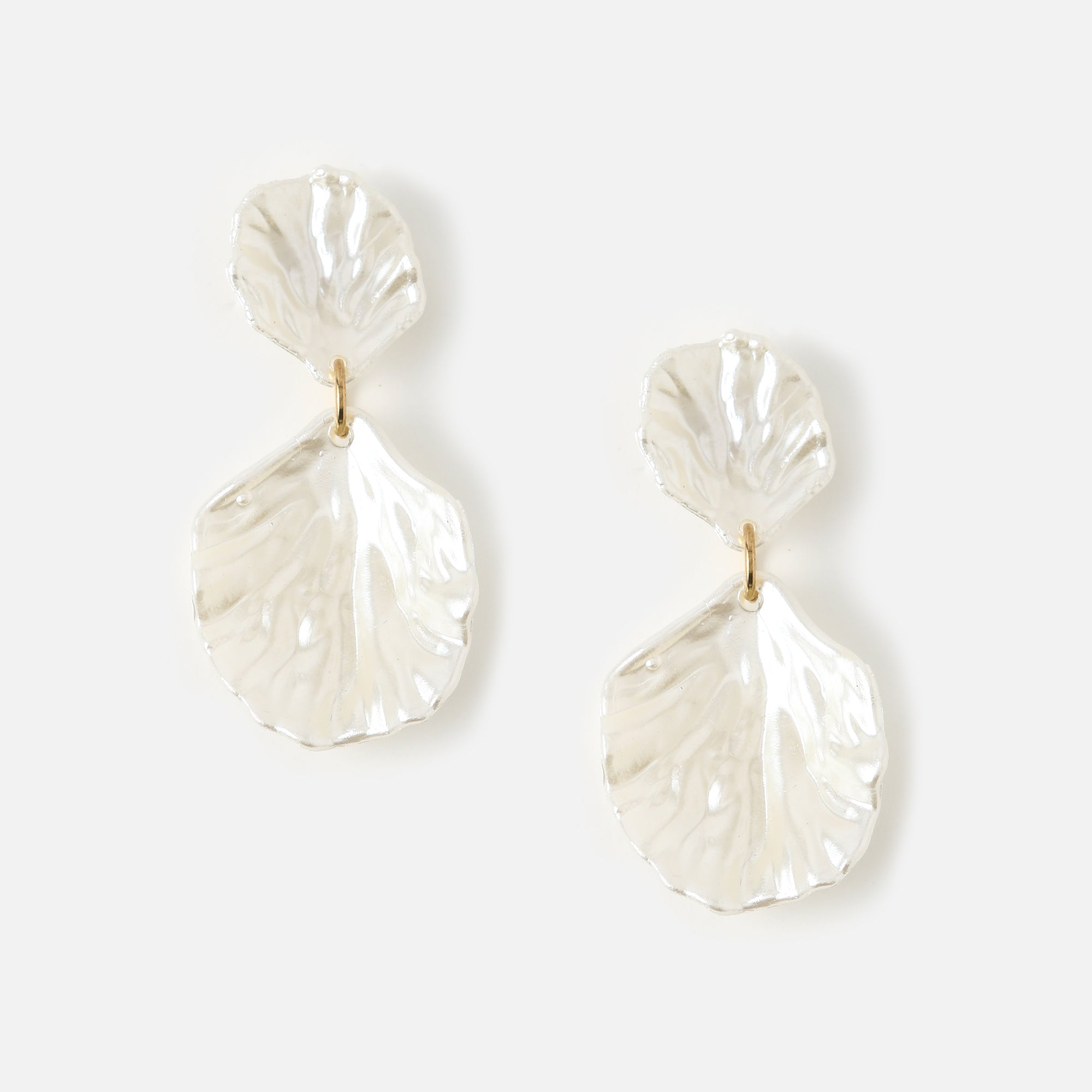 Pearlescent Double Shell Earrings