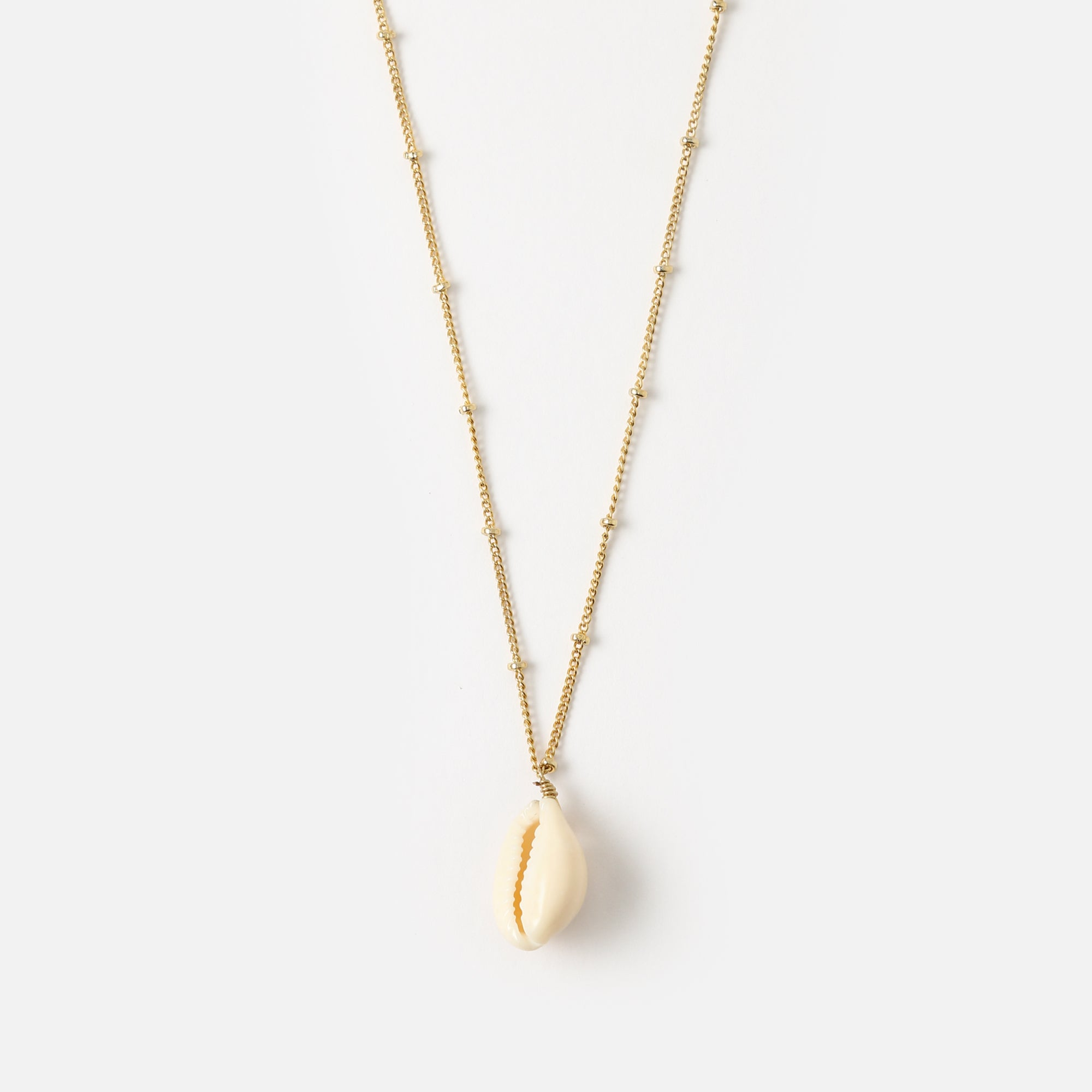 Ditsy Cowrie Shell & Satellite Necklace