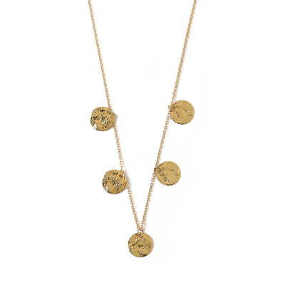 Hammered Coin Drop Necklace