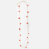 Semi Precious Chip Long Necklace - Coral