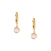 Swarovski Rose Water Opal Drop Huggie Hoops