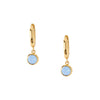 Swarovski Air Blue Opal Drop Huggie Hoops