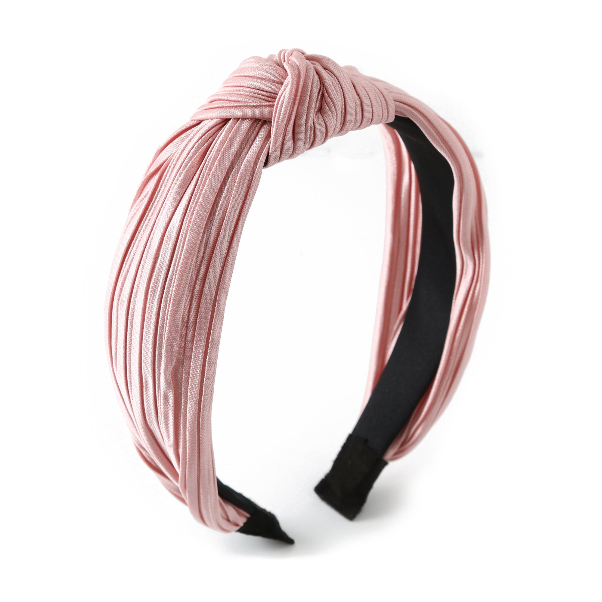 Pink Pleated Fabric Headband